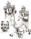 Dick Anderson/Jack Scott Miami Dolphins Original Artwork By Michael Mellett