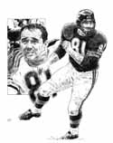 Doug Atkins Chicago Bears Original Artwork By Michael Mellett
