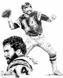 Dan Fouts San Diego Chargers Original Artwork By Michael Mellett