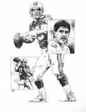 Dan Marino Miami Dolphins Original Artwork By Michael Mellett