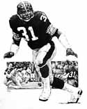 Donnie Shell Pittsburgh Steelers Original Artwork By Michael Mellett