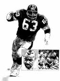 Ernie Holmes Pittsburgh Steelers Original Artwork By Michael Mellett
