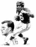 Frank Gifford New York Giants Original Artwork By Michael Mellett