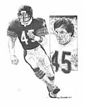 Gary Fencik Chicago Bears Original Artwork By Michael Mellett