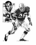 Herb Adderley Green Bay Packers Original Artwork By Michael Mellett