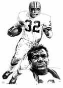 Jim Brown Cleveland Browns Original Artwork By Michael Mellett