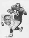 Jerome Bettis Pittsburgh Steelers Original Artwork By Michael Mellett