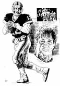 Jim Kelly Buffalo Bills Original Artwork By Michael Mellett
