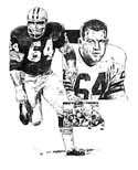 Jerry Kramer Green Bay Packers Original Artwork By Michael Mellett
