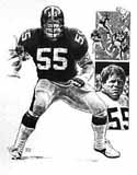 Jon Kolb Pittsburgh Steelers Original Artwork By Michael Mellett