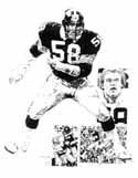 Jack Lambert Pittsburgh Steelers Original Artwork By Michael Mellett