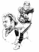Jeremy Shockey New York Giants Original Artwork By Michael Mellett