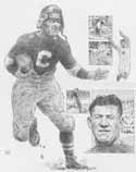 Jim Thorpe Canton Bulldogs Original Artwork By Michael Mellett