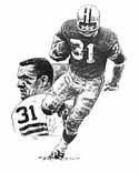 Jim Taylor Green Bay Packers Original Artwork By Michael Mellett