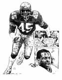 Kenny Easley Seattle Seahawks Original Artwork By Michael Mellett