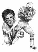Lance Alworth San Diego Chargers Original Artwork By Michael Mellett