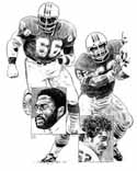 Larry Little/Jim Langer Miami Dolphins Original Artwork By Michael Mellett