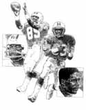 Mark Clayton/Mark Duper Miami Dolphins Original Artwork By Michael Mellett