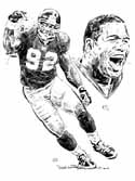 Michael Strahan New York Giants Original Artwork By Michael Mellett