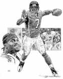 Michael Vick Atlanta Falcons Original Artwork By Michael Mellett