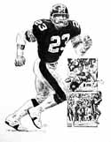 Mike Wagner Pittsburgh Steelers Original Artwork By Michael Mellett