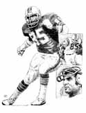 Nick Buoniconti Miami Dolphins Original Artwork By Michael Mellett