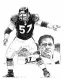 Olin Kreutz Chicago Bears Original Artwork By Michael Mellett