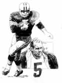 Paul Hornung Green Bay Packers Original Artwork By Michael Mellett