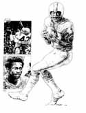 Paul Warfield Miami Dolphins Original Artwork By Michael Mellett