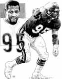Richard Dent Chicago Bears Original Artwork By Michael Mellett