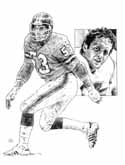 Randy Gradishar Denver Broncos Original Artwork By Michael Mellett