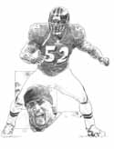 Ray Lewis Baltimore Ravens Original Artwork By Michael Mellett