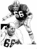 Ray Nitchke Green Bay Packers Original Artwork By Michael Mellett