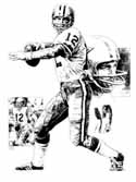 Roger Staubach Dallas Cowboys Original Artwork By Michael Mellett