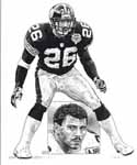 Rod Woodson Pittsburgh Steelers Original Artwork By Michael Mellett
