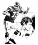 Ron Yary Minnesota Vikings Original Artwork By Michael Mellett