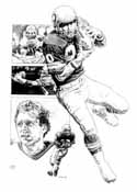 Steve Largent Seattle Seahawks Original Artwork By Michael Mellett