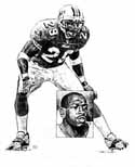 Sam Madison Miami Dolphins Original Artwork By Michael Mellett