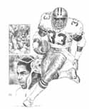 Tony Dorsett Dallas Cowboys Original Artwork By Michael Mellett