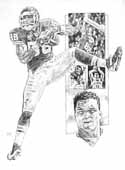 Tony Gonzalez Kansas City Chiefs Original Artwork By Michael Mellett
