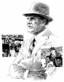 Tom Landry Dallas Cowboys Original Artwork By Michael Mellett