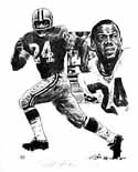 Willie Wood Green Bay Packers Original Artwork By Michael Mellett
