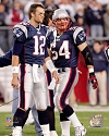 Tom Brady & Tedy Bruschi New England Patriots Photo