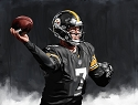 11 X 14 Ben Rothlisberger Pittsburgh Steelers Limited Edition Giclee Series #5