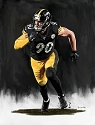 8 X 10 T. J. Watt Pittsburgh Steelers Limited Edition Giclee Series #5