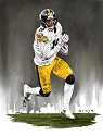11 X 14 JuJu Smith-Schuster Pittsburgh Steelers Limited Edition Giclee Series #5